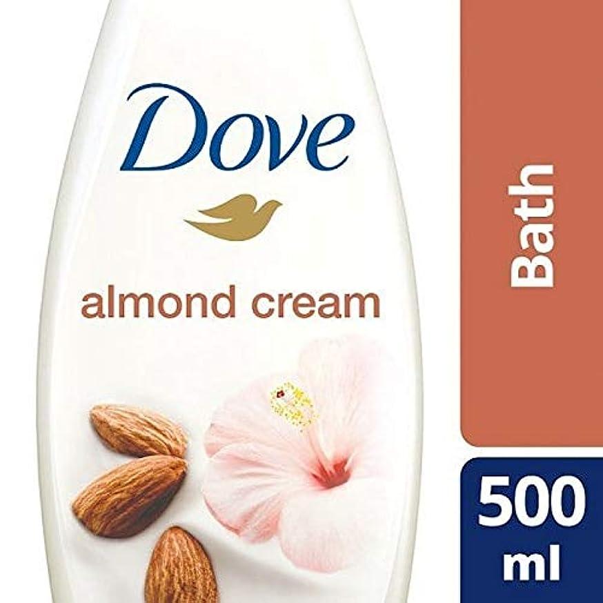 酒退院アセンブリ[Dove ] 純粋なアーモンド思いやりのあるクリームバスの500ミリリットルを甘やかす鳩 - Dove Purely Pampering Almond Caring Cream Bath 500ml [並行輸入品]