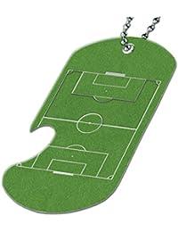 サッカーフィールド – ボトルOpener犬タグネックレス