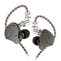 KZ-ZSNpro 1BA+1DDハイブリッドイヤホン イヤモニ型 HIFI高音質 バランスよい 0.75mm 2PIN ケーブル着脱式 ステレオ ノイズキャンセル 人間工学 (マイクなし, グレー)