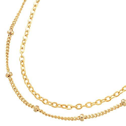 [해외]미니 볼 & 심플 체인 2 연속 발찌 색상 : 골드 (a0001G)/Mini ball & simple chain twin anklet color: gold (a0001 G)