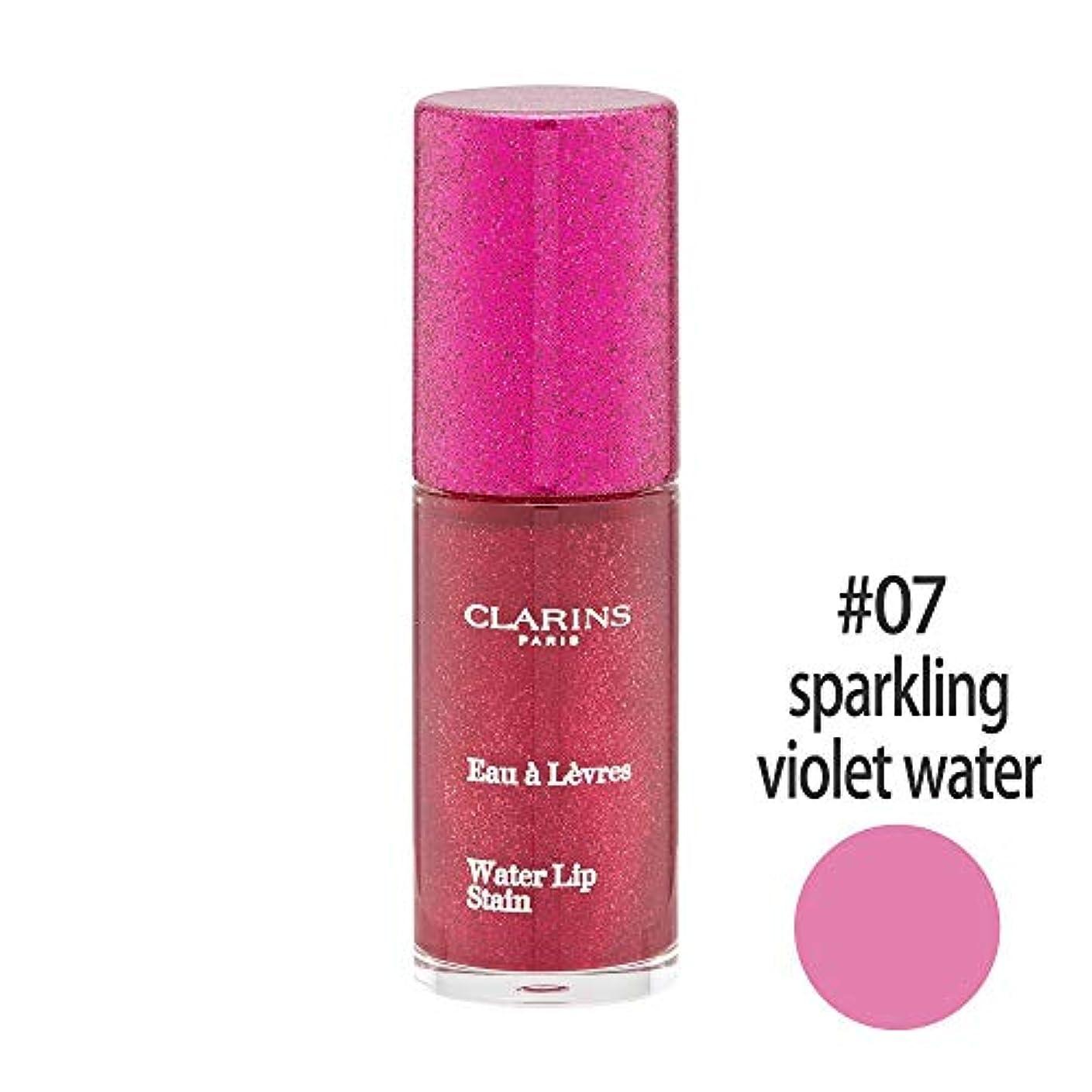 合わせて穿孔するブラウンクラランス(CLARINS) ウォーターリップ ステイン #07(sparkling violet water) [並行輸入品]