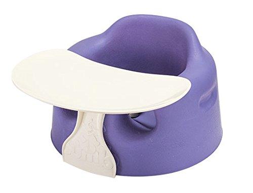バンボ BUMBO ベビーソファ トレイ ベルト付き ベビーチェア バイオレット Baby Sitter + TRAY SET Combo Violet 赤ちゃん イス テーブル トレー 出産祝い プレゼント [並行輸入品]
