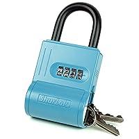 ShurLok 4-dial Numberedキーストレージ組み合わせロックボックス 12 Pack ブルー