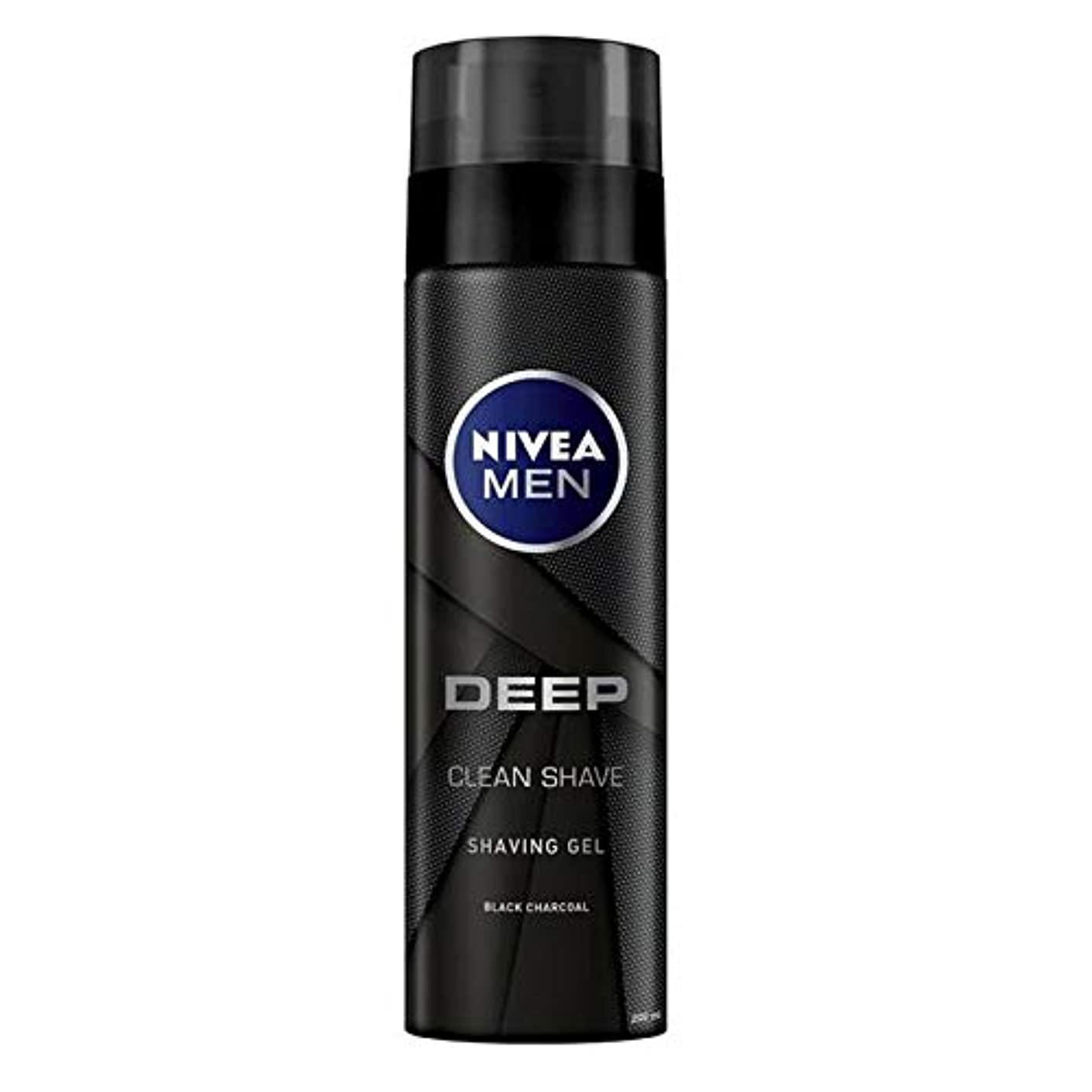 生国籍床[Nivea] ニベアの男性深い炭シェービングジェル200Ml - NIVEA Men Deep Charcoal Shaving Gel 200ml [並行輸入品]