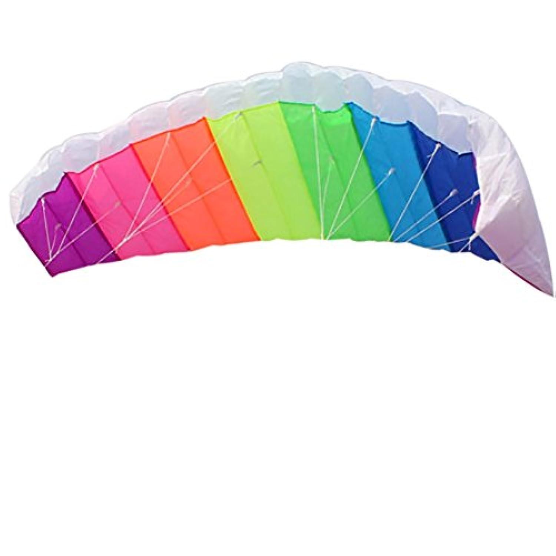 SizeT 1.4 MデュアルラインカイトレインボーParafoilパラシュートアウトドアサーフィンFun Kites