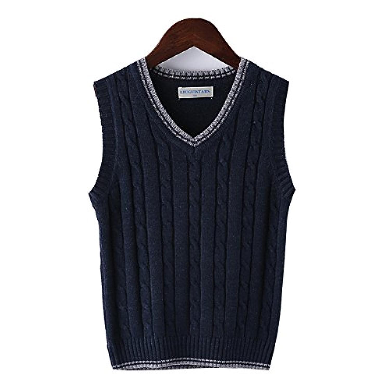 子供 キッズ Vネック ベスト スクール ニット 学校 制服 学生 フォーマル ガールズ ボーイズ 男の子 セーター 110-150cm