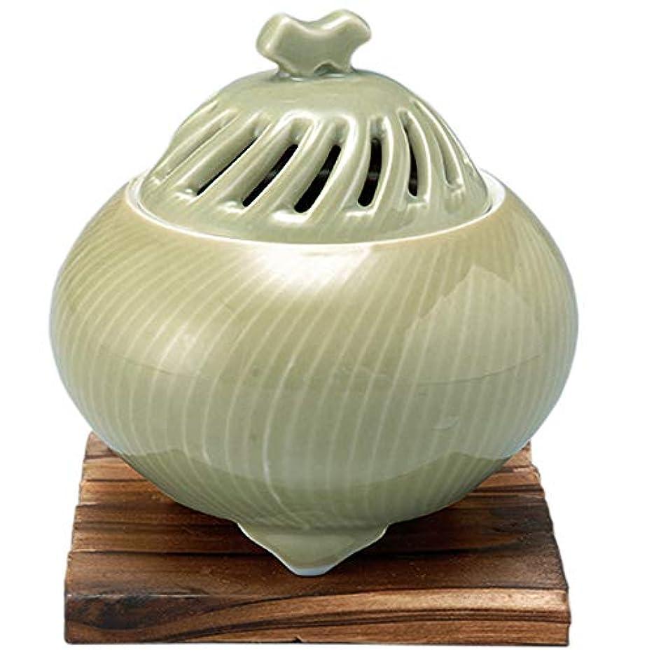 顕現健康的受取人香炉 鶯透し 丸型香炉 [R11xH11.3cm] プレゼント ギフト 和食器 かわいい インテリア