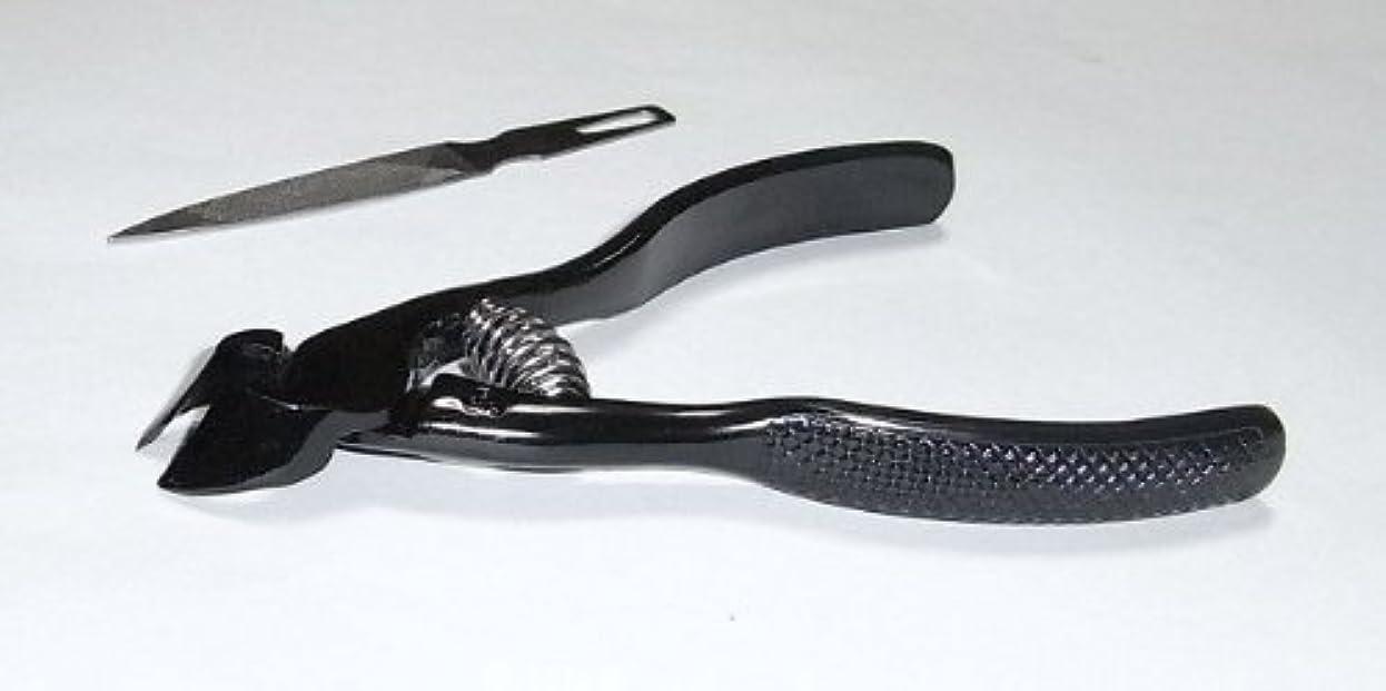 傾いた全滅させる強要爪切ニッパー(ブラック)