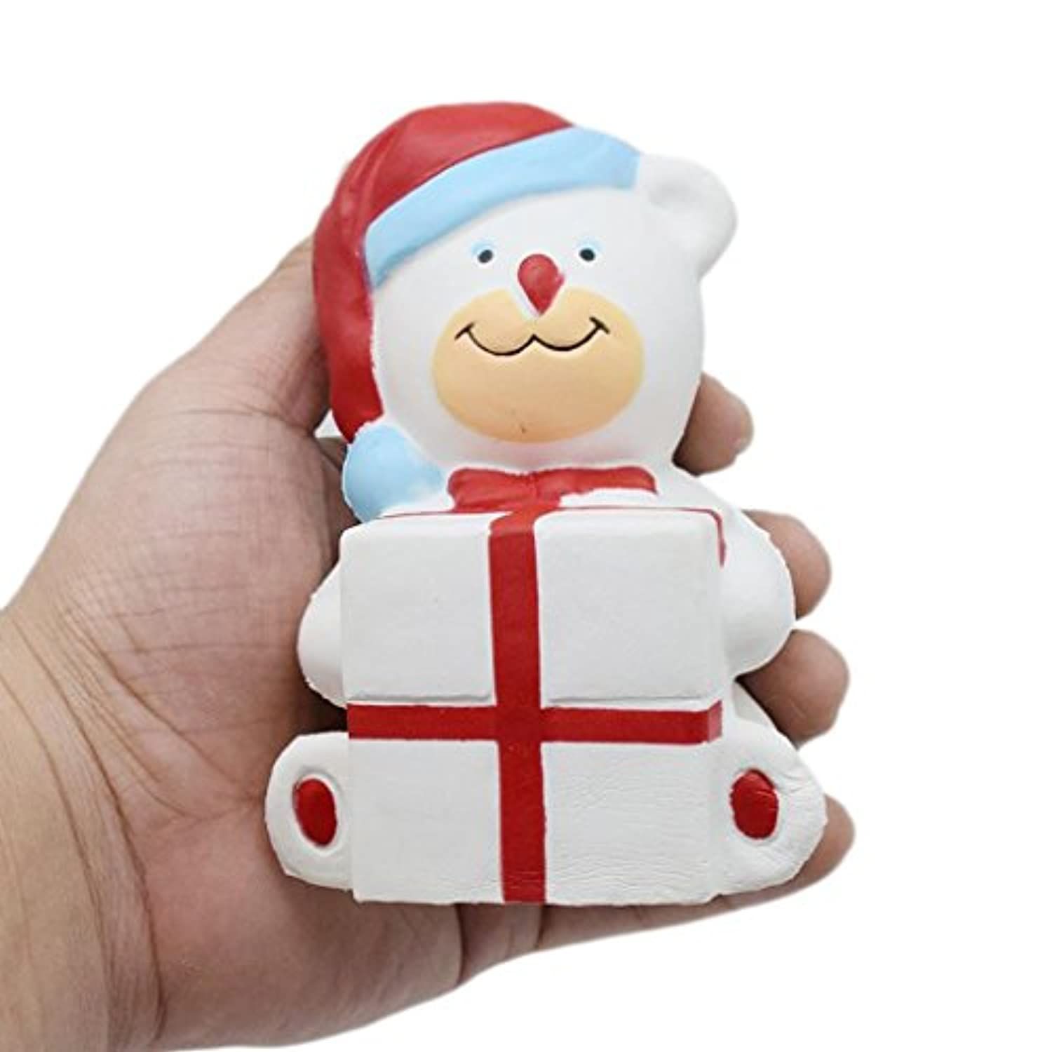cinhentソフト漫画クリスマスBear Holding aビッグギフトボックスSquishy Slow Rising Squeeze応力Reliever Toy