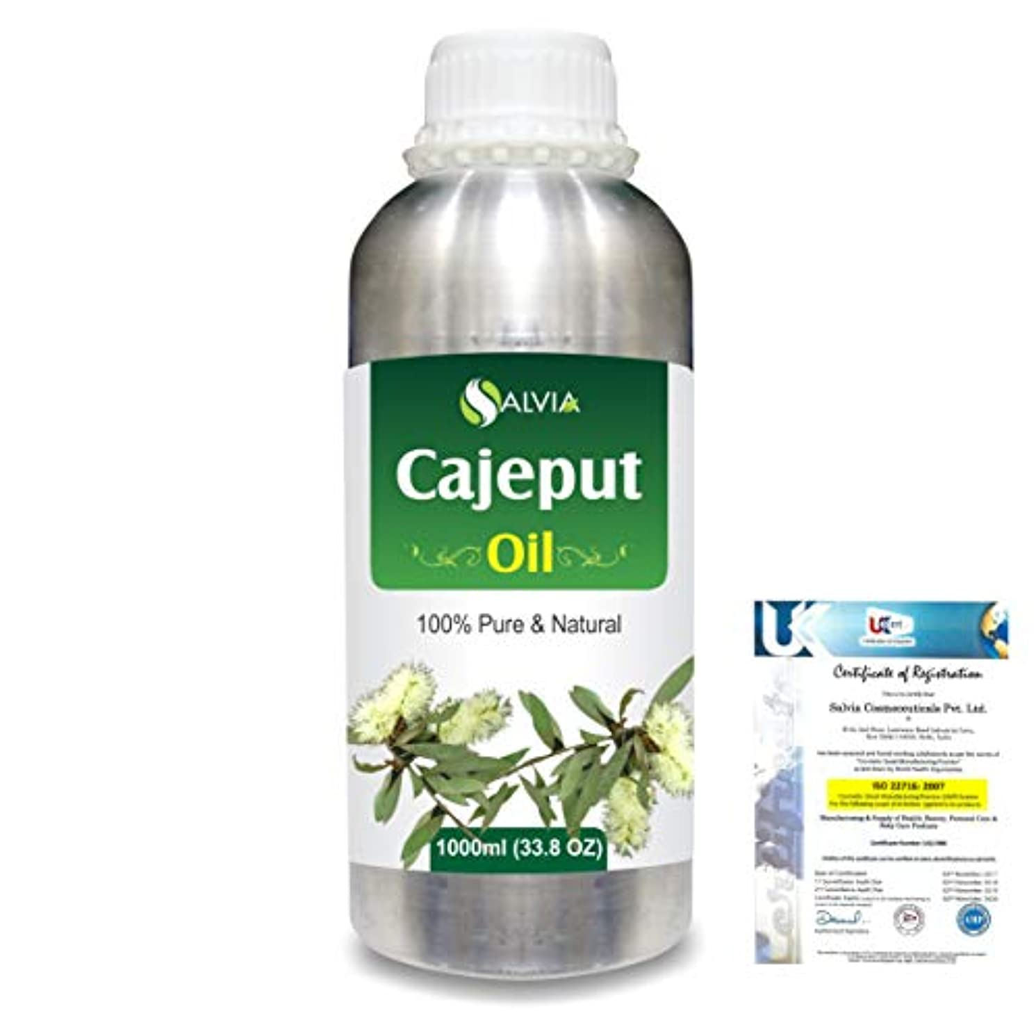 座標外交官予防接種Cajeput (Melaleuca leucadendron) 100% Natural Pure Essential Oil 1000ml/33.8fl.oz.