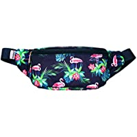 WODODO Pattern Floral Print Fashion Cute Fanny Pack Women Rave Festival Party Hiking Travel Hip Packs