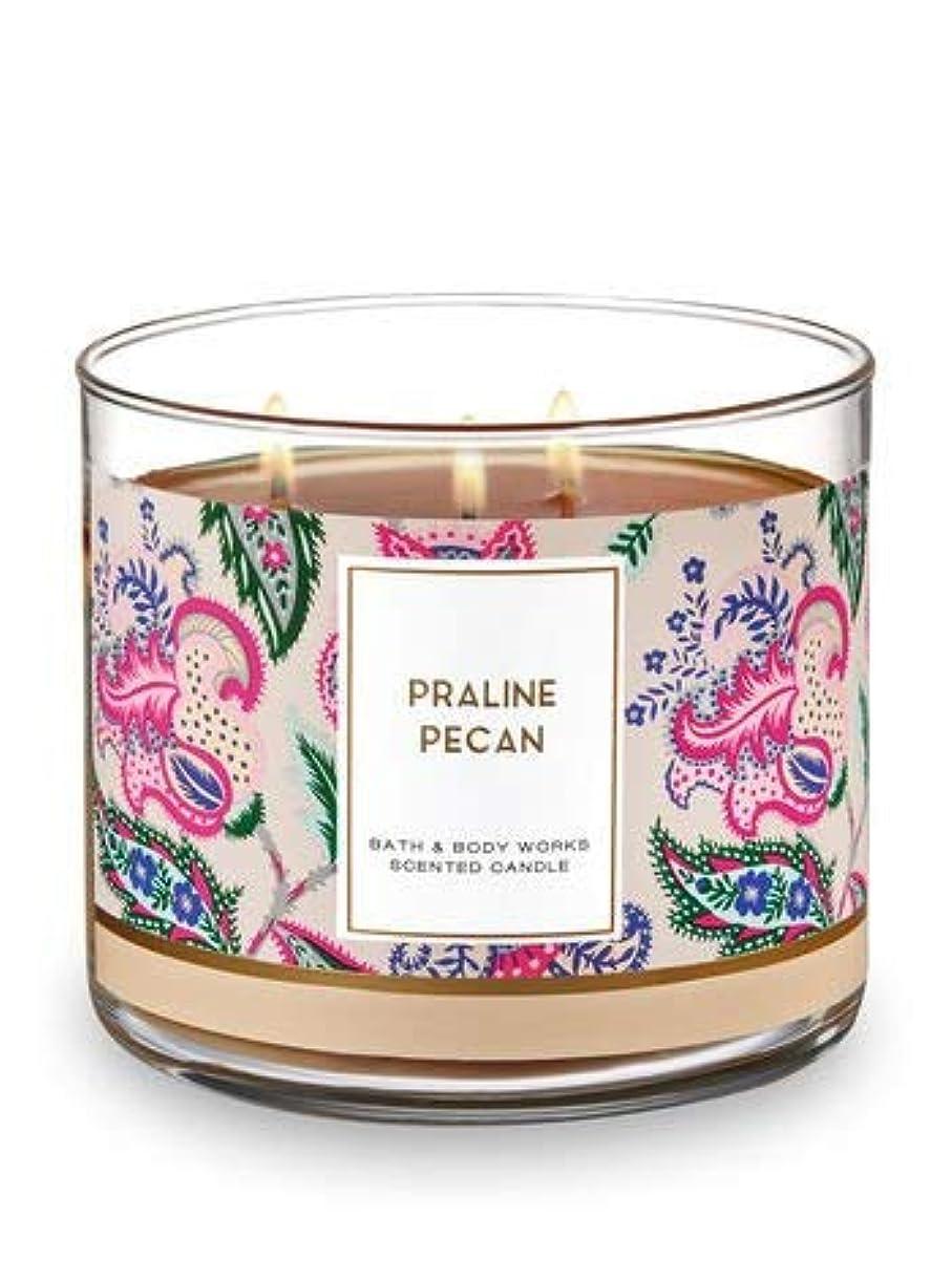 石灰岩ゲームねばねばBath and Body Works 3 Wick Scented Candle Praline Pecan 430ml