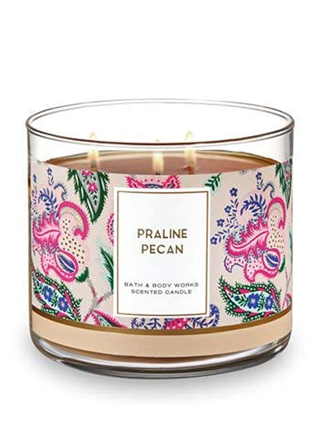Bath and Body Works 3 Wick Scented Candle Praline Pecan 430ml