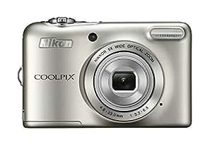 Nikon デジタルカメラ COOLPIX L32 シルバー 光学5倍ズーム 2005万画素 乾電池タイプ L32SL