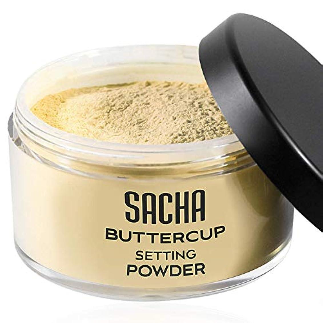 増強する免除する印象的Sacha Cosmetics バターカップライトパウダー、最高半透明ルースフェイス仕上げパウダーメイクアップファンデーション用セッチング完璧仕上げ用、ライトからミディアムスキントーン、1.25 オンス バターカップライト