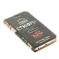 iphone ケース 手帳型 コーヒー豆 レザーケース スマホケース iphoneケース (iPhone XR用, エチオピアシングルオリジン)