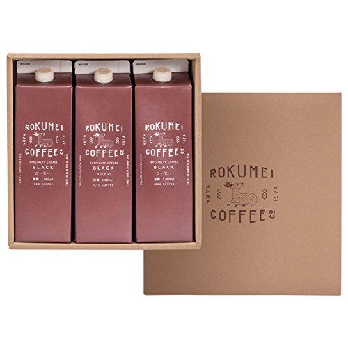 ROKUMEI COFFEE CO. ( ロクメイコーヒー ) コーヒーギフト [ アイスコーヒー リキッド / 無糖 3本 ] 誕生日シール