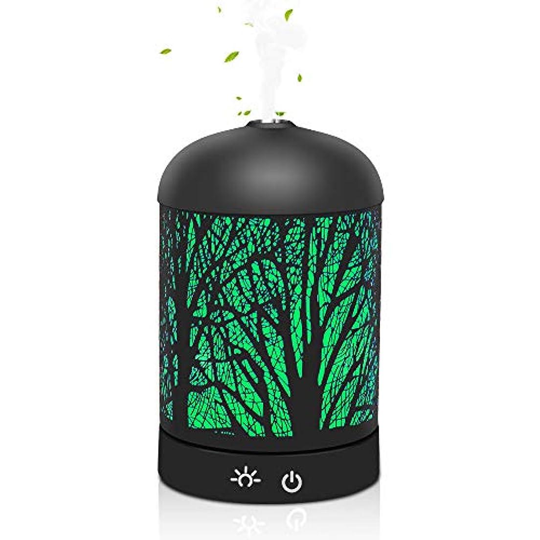 公園活気づくピットアロマテラピーエッセンシャルオイルディフューザー、純粋なエッセンシャルオイルアロマテラピーマシンクールミスト加湿器7色ライト、家庭用、仕事