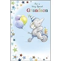 キュートGrandson誕生日カード–Elliot &ボタン