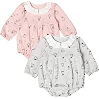 COTTON FAIRY Newborn Baby Bodysuit Longsleeve Autumn Clothes Rabbit Print Romper