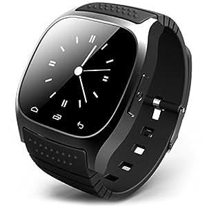 Molingo Smart Watch M26 多国言語支持 ハンズフリー通話 スマートウォッチ ブラック
