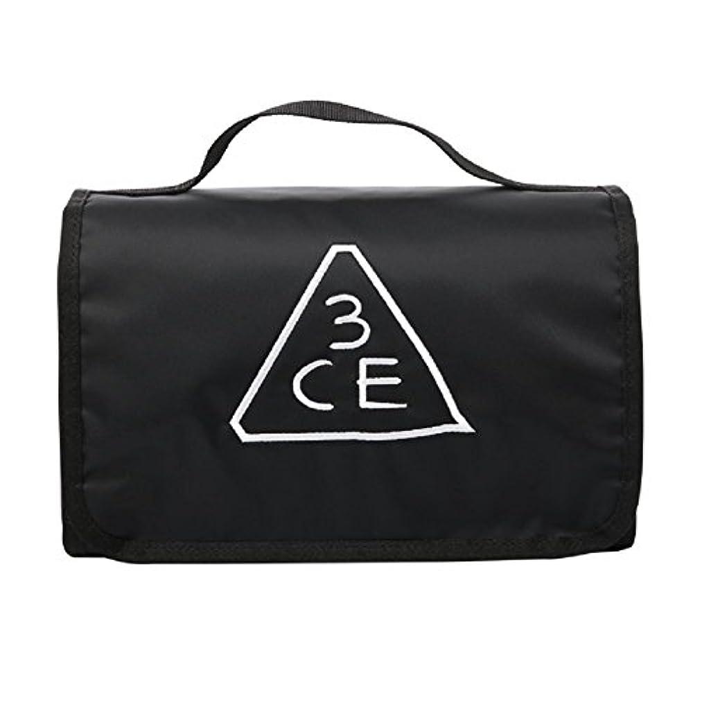 アセンブリ中傷お3CE(3 CONCEPT EYES) WASH BAG ワッシュバッグ BIG SIZE COSMETIC POUCH 大きなサイズの化粧品のポ BLACK FREE SIZE [韓国並行輸入品]