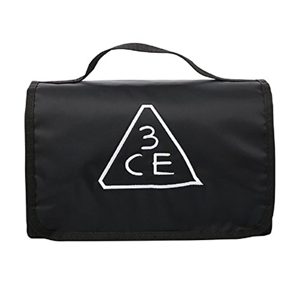 アルカイックメイト圧力3CE(3 CONCEPT EYES) WASH BAG ワッシュバッグ BIG SIZE COSMETIC POUCH 大きなサイズの化粧品のポ BLACK FREE SIZE [韓国並行輸入品]