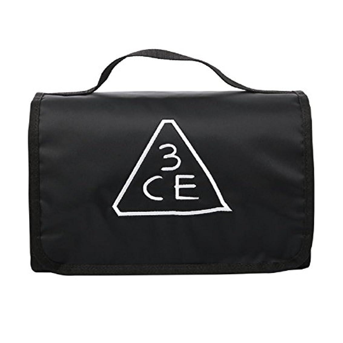 六分儀ヒゲ秀でる3CE(3 CONCEPT EYES) WASH BAG ワッシュバッグ BIG SIZE COSMETIC POUCH 大きなサイズの化粧品のポ BLACK FREE SIZE [韓国並行輸入品]
