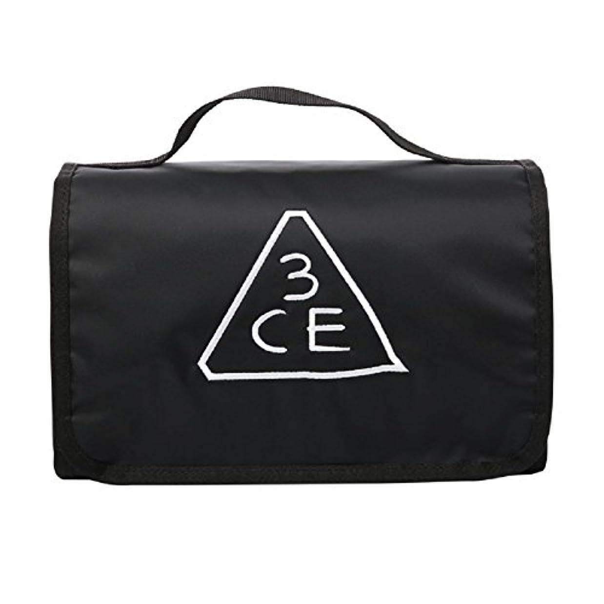 複製するスマッシュ破壊的3CE(3 CONCEPT EYES) WASH BAG ワッシュバッグ BIG SIZE COSMETIC POUCH 大きなサイズの化粧品のポ BLACK FREE SIZE [韓国並行輸入品]