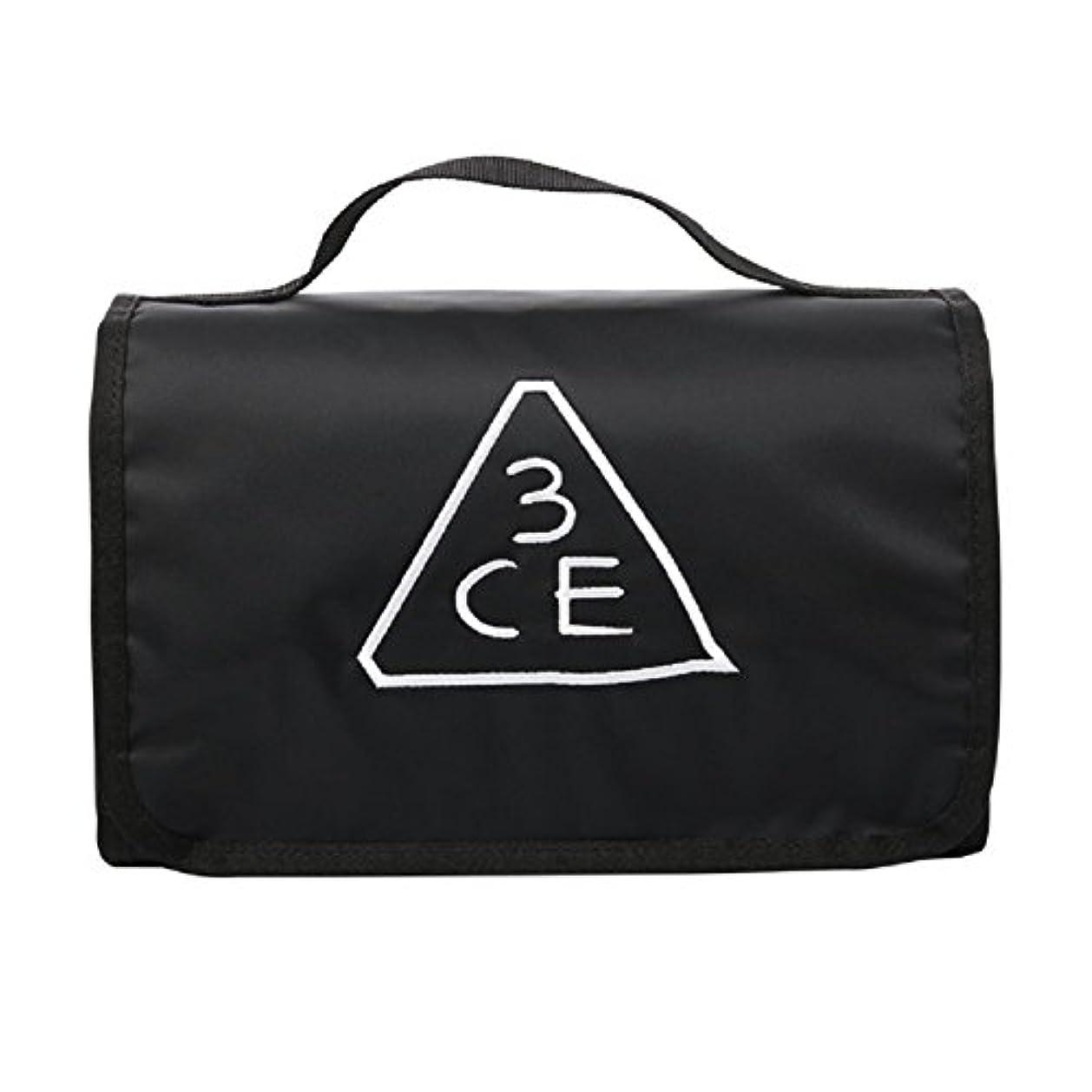 回転させる騒認知3CE(3 CONCEPT EYES) WASH BAG ワッシュバッグ BIG SIZE COSMETIC POUCH 大きなサイズの化粧品のポ BLACK FREE SIZE [韓国並行輸入品]