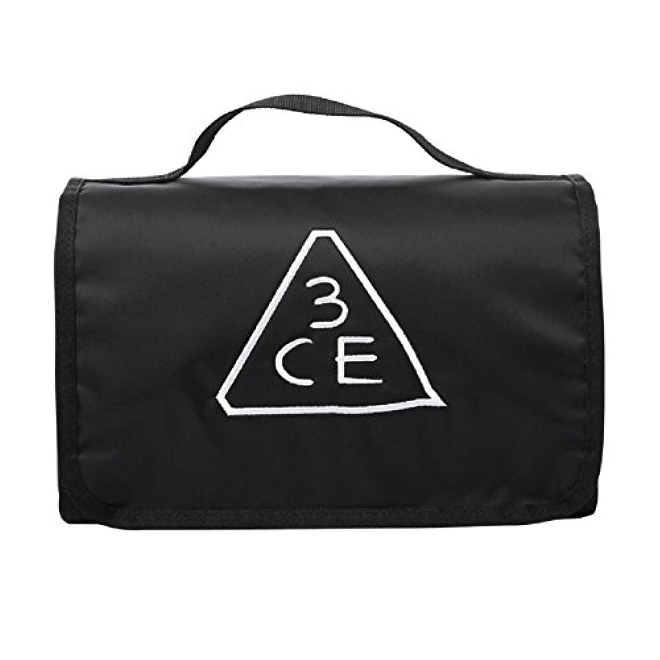 不誠実管理する主婦3CE(3 CONCEPT EYES) WASH BAG ワッシュバッグ BIG SIZE COSMETIC POUCH 大きなサイズの化粧品のポ BLACK FREE SIZE [韓国並行輸入品]