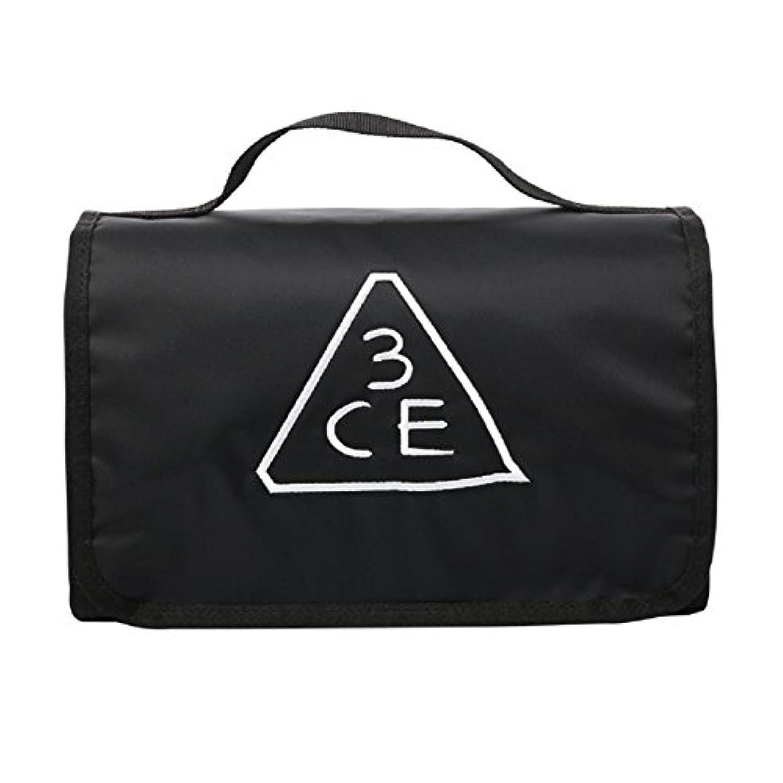 一般化するドキドキ汚染する3CE(3 CONCEPT EYES) WASH BAG ワッシュバッグ BIG SIZE COSMETIC POUCH 大きなサイズの化粧品のポ BLACK FREE SIZE [韓国並行輸入品]