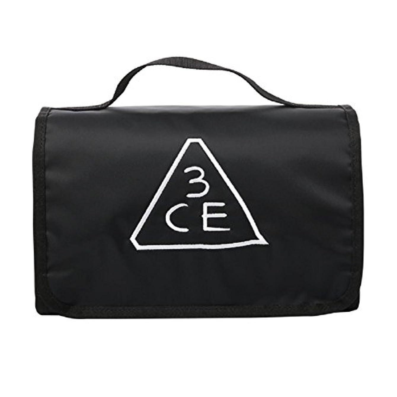 テレビ間違いなく一般化する3CE(3 CONCEPT EYES) WASH BAG ワッシュバッグ BIG SIZE COSMETIC POUCH 大きなサイズの化粧品のポ BLACK FREE SIZE [韓国並行輸入品]