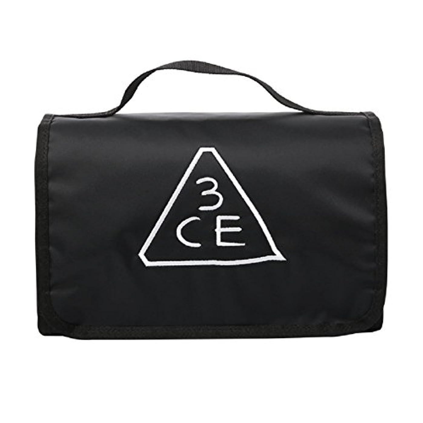 悲劇コカインミッション3CE(3 CONCEPT EYES) WASH BAG ワッシュバッグ BIG SIZE COSMETIC POUCH 大きなサイズの化粧品のポ BLACK FREE SIZE [韓国並行輸入品]