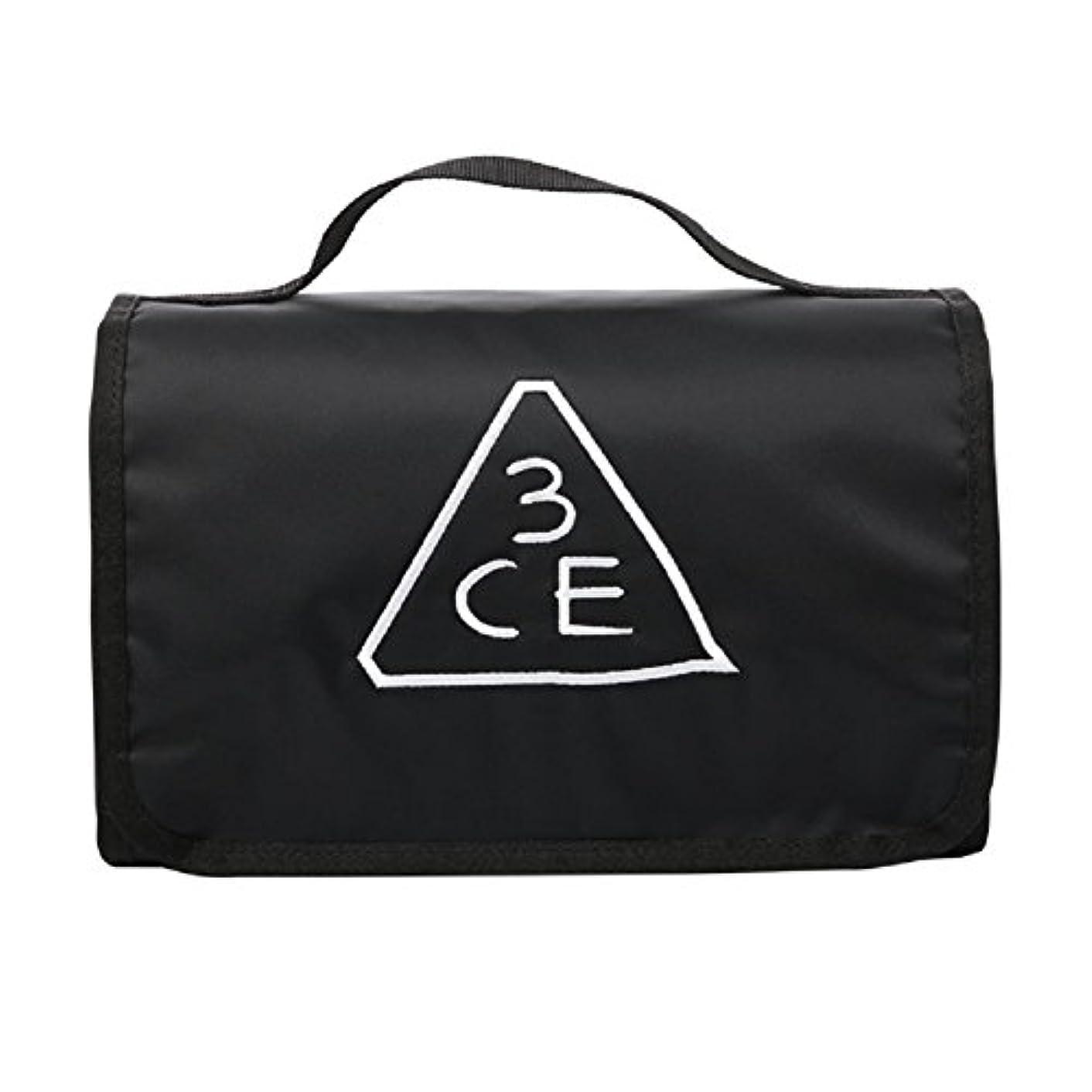 縁意外徐々に3CE(3 CONCEPT EYES) WASH BAG ワッシュバッグ BIG SIZE COSMETIC POUCH 大きなサイズの化粧品のポ BLACK FREE SIZE [韓国並行輸入品]