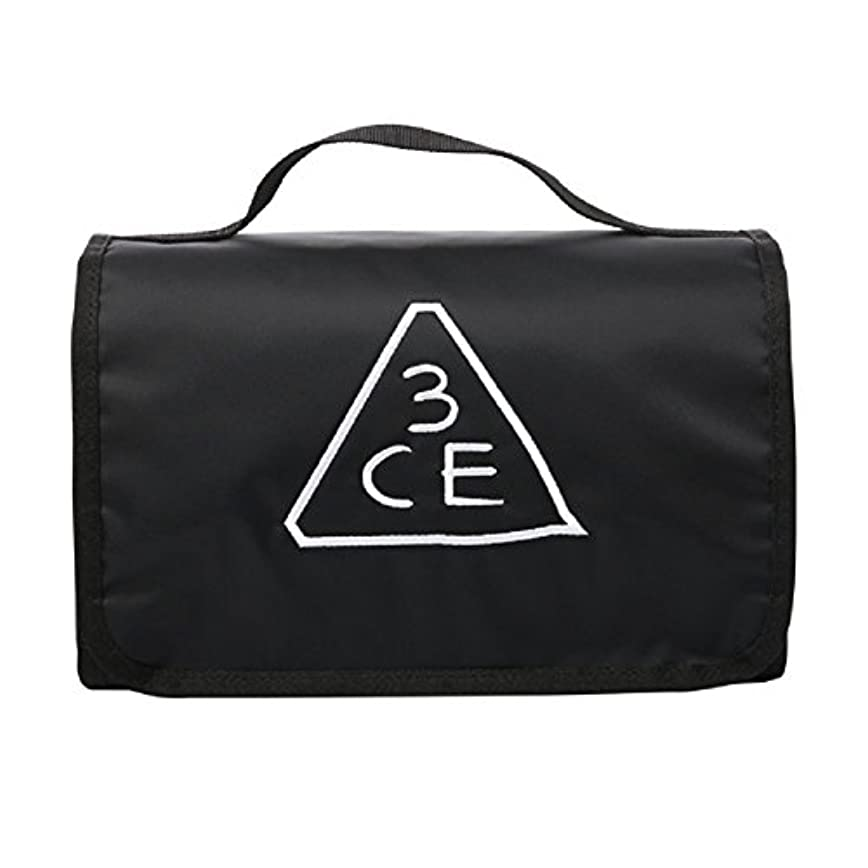 3CE(3 CONCEPT EYES) WASH BAG ワッシュバッグ BIG SIZE COSMETIC POUCH 大きなサイズの化粧品のポ BLACK FREE SIZE [韓国並行輸入品]