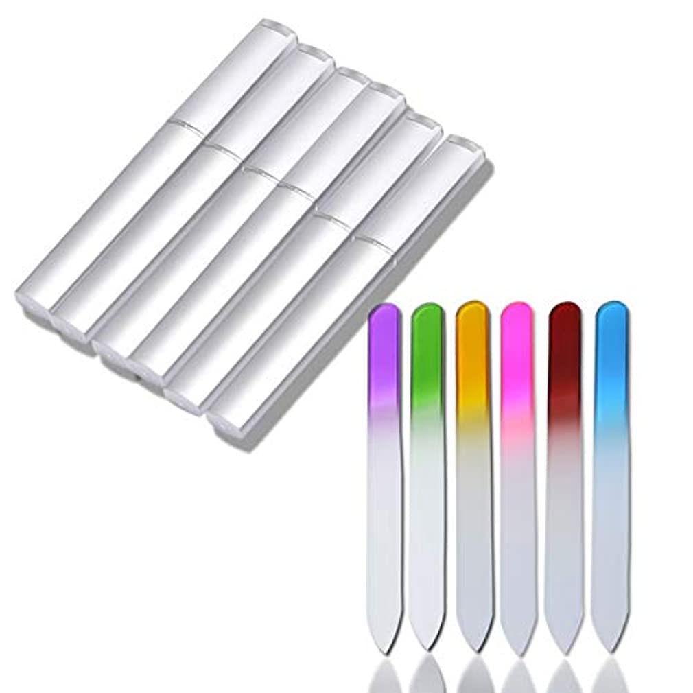 ゆるい吐く傘Yoshilimen 特徴的なクリスタルガラスネイルファイルは、自然とアクリルの爪のケアのための両面爪ファイルを設定