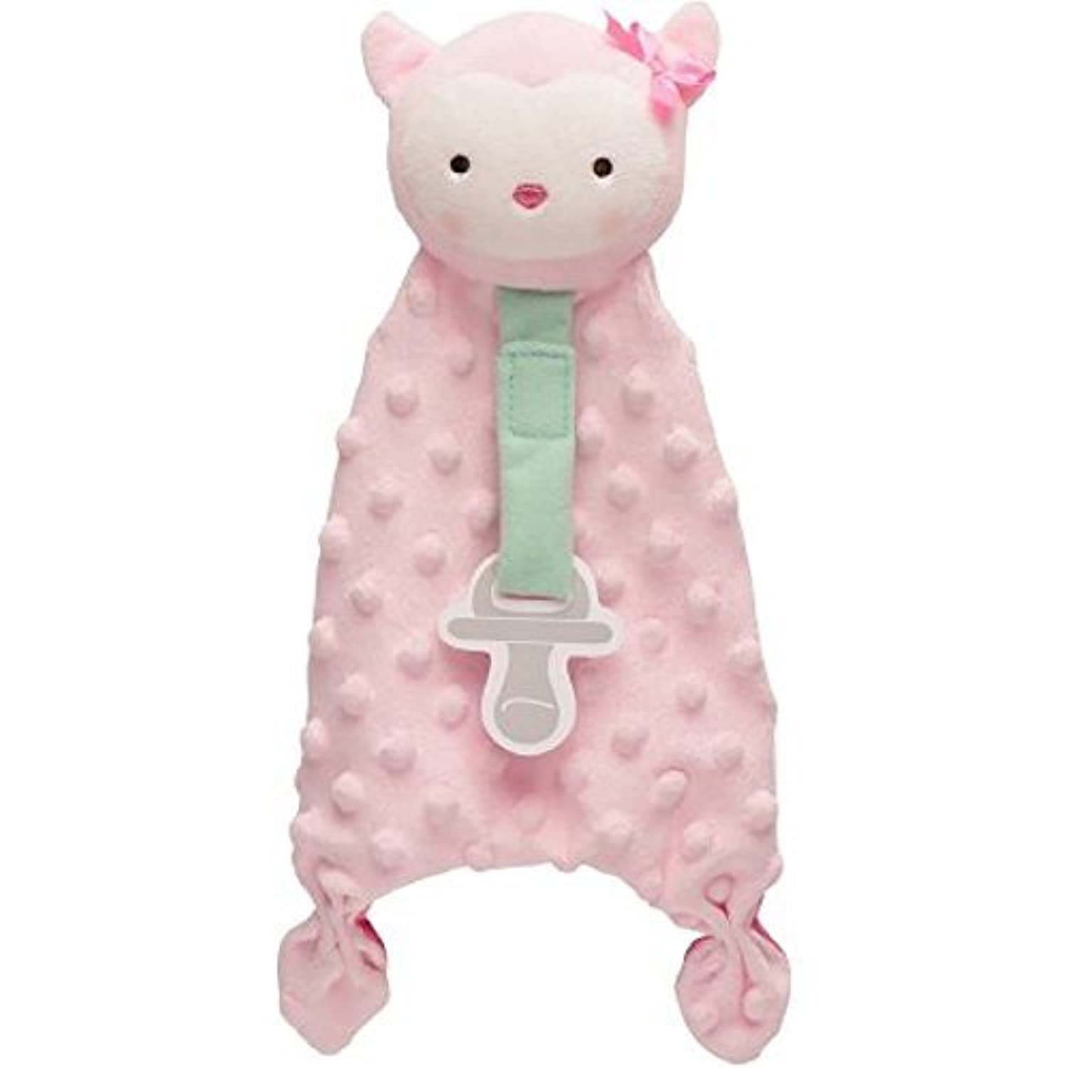 Carters Child of Mine Security Blanket with Paci Strip (Pink Owl) [並行輸入品]
