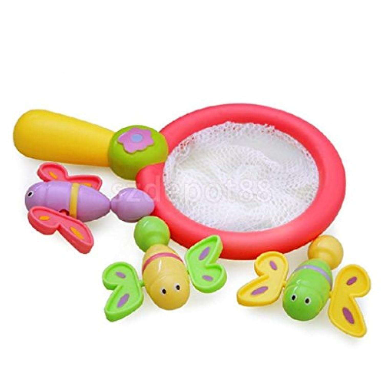 入浴時間再生FunフローティングBath Toyバタフライキャッチ男の子女の子ギフト