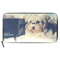 GORIRA(ゴリラ)シーズー かわいい 子犬 長財布 レディース ダブルサイド印刷 ファスナー開閉式 ウォレット