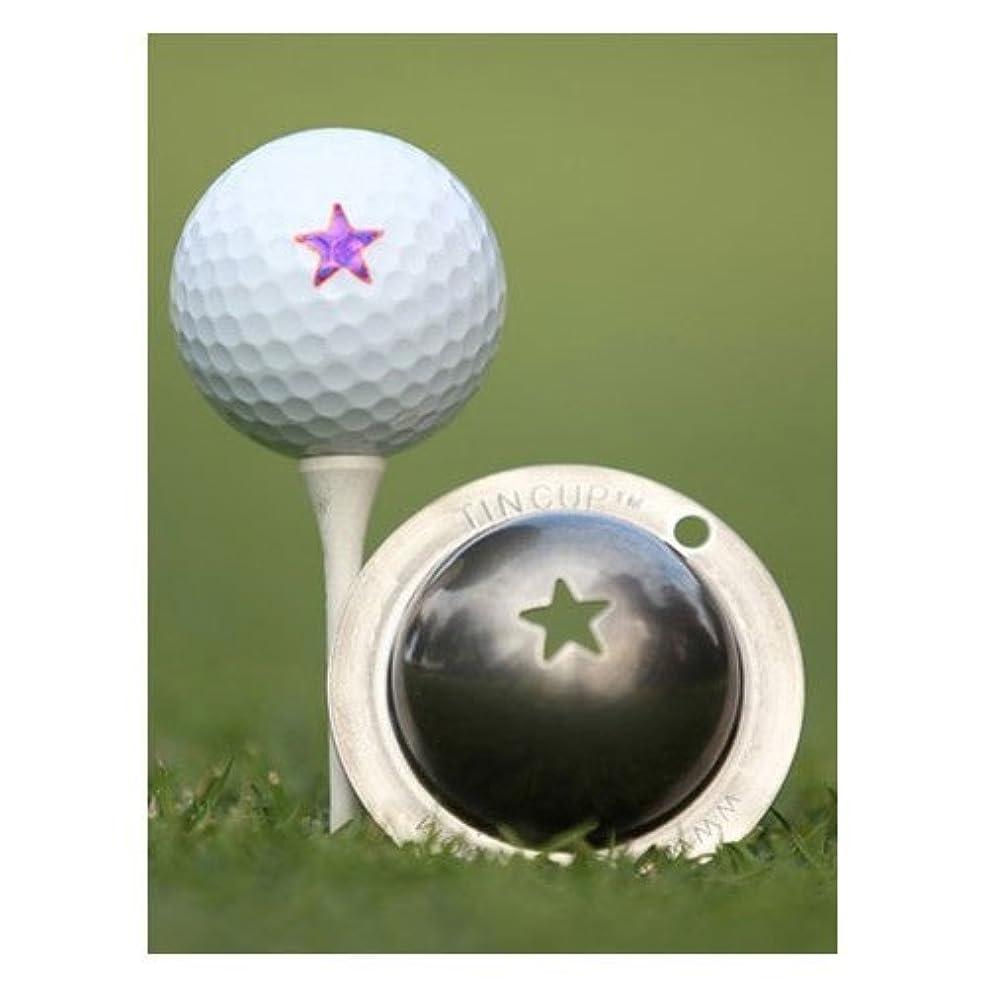 休憩するセイはさておきデータムTin Cup Lone Star Golf Ball Marking Stencil Steel [並行輸入品]