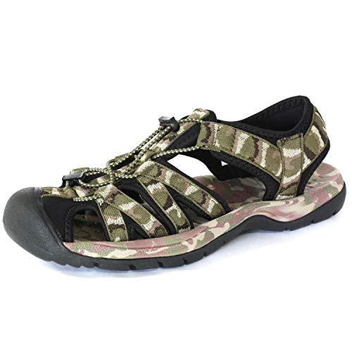 [LAD WEATHER] [ラドウェザー]スポーツ サンダル 軽量 滑り止め 耐衝撃 メンズ シューズ 靴 ladshoes002 (23.5, グリーン)