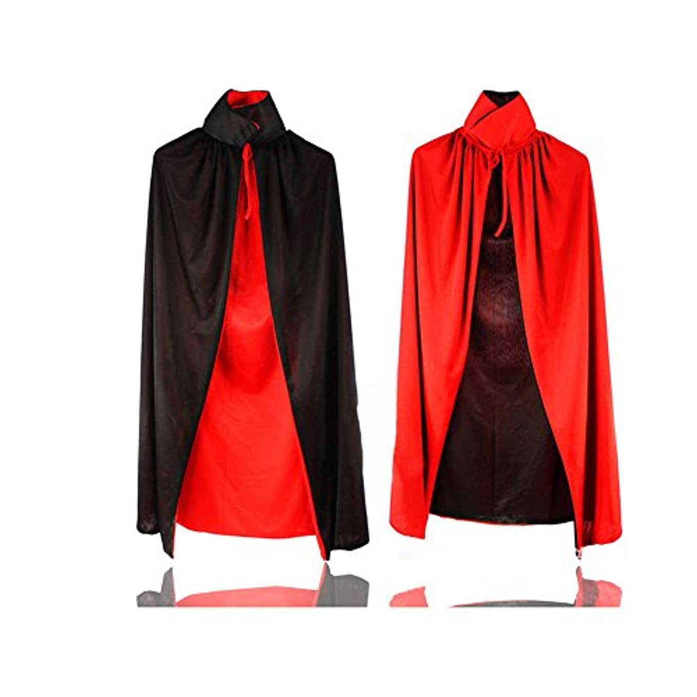 無限大本質的ではない勝利した大人のためのブラック&レッド両面ハロウィン吸血鬼の外套のコスプレ衣装(ユニセックス) (長:120cm)