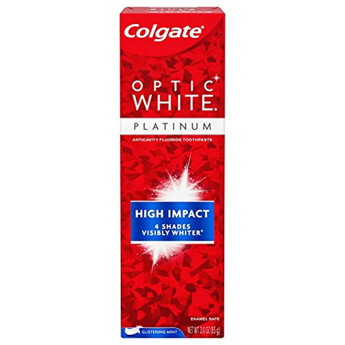 写真撮影広々進むColgate Optic White High Impact White 練り歯磨き [並行輸入品]