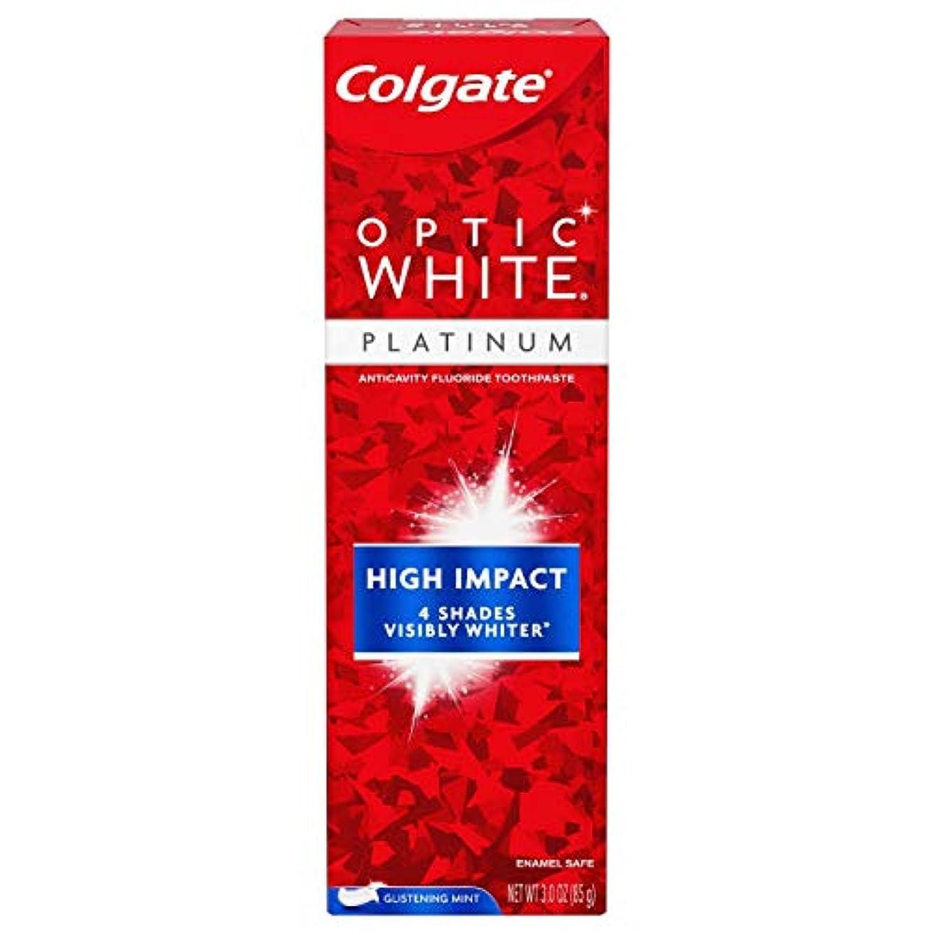 タオル縁シャッターColgate Optic White High Impact White 練り歯磨き [並行輸入品]