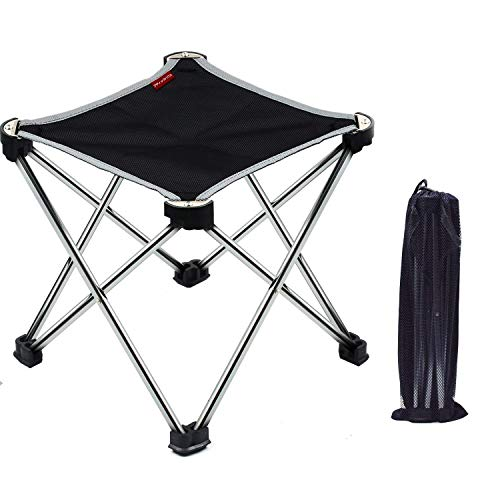 アウトドアチェア折りたたみ椅子コンパクト イス 持ち運び キャンプ用軽量 収納バッグ付き 折りたたみチェア レジャー 背もたれなし (ガンカラー)