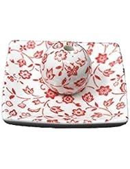 赤小花 小角皿 日本製 美濃焼 お香立て お香たて 陶器 製造 直売品 レモングラス