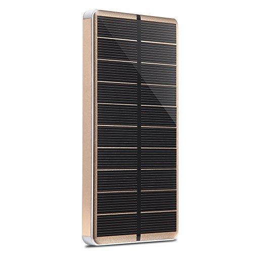PowerGreen モバイルバッテリー 10000mAh ソーラーチャージ...