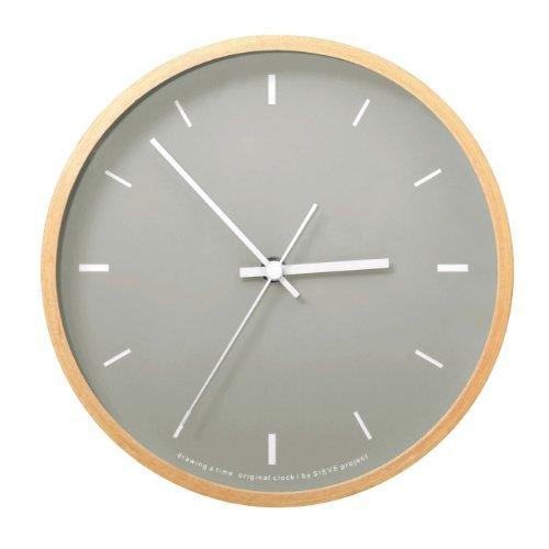 RoomClip商品情報 - SIEVE paint ライトグレー シーヴ ペイント 壁掛け時計 卓上用スタンド付き