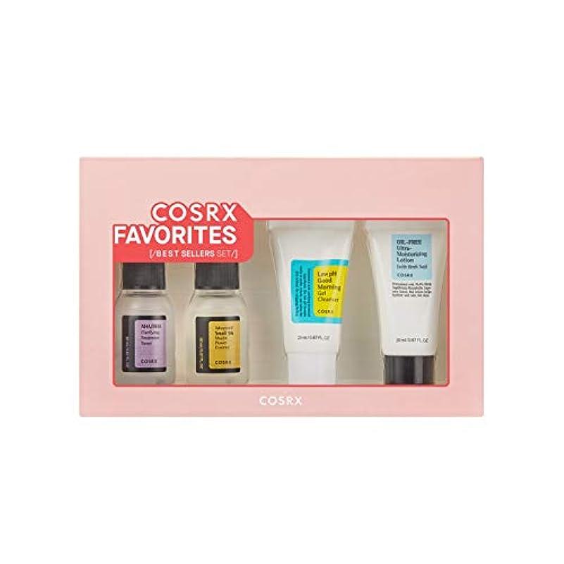 焼く軍紳士COSRX Favorites Best Sellers Set - Mini Sized Low pH Good Morning Gel Cleanser, AHA/BHA Clarifying Treatment Toner...
